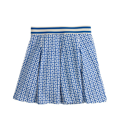 Girls' pleated skirt in box dot