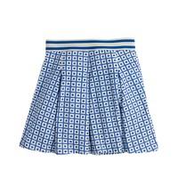 Girls' pleated skirt in box dot