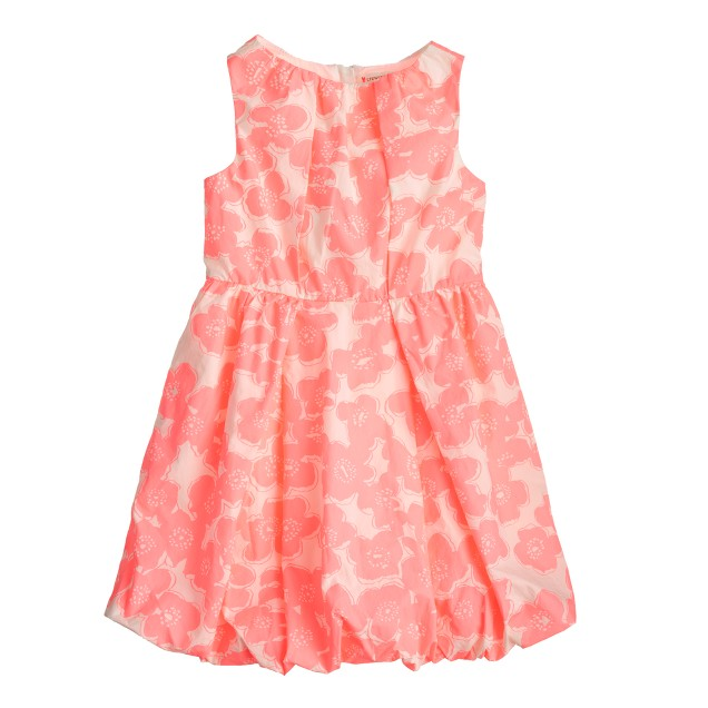 Girls' bubble dress in bright floral
