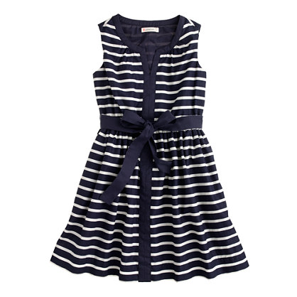 Girls' tipped tankdress in stripe