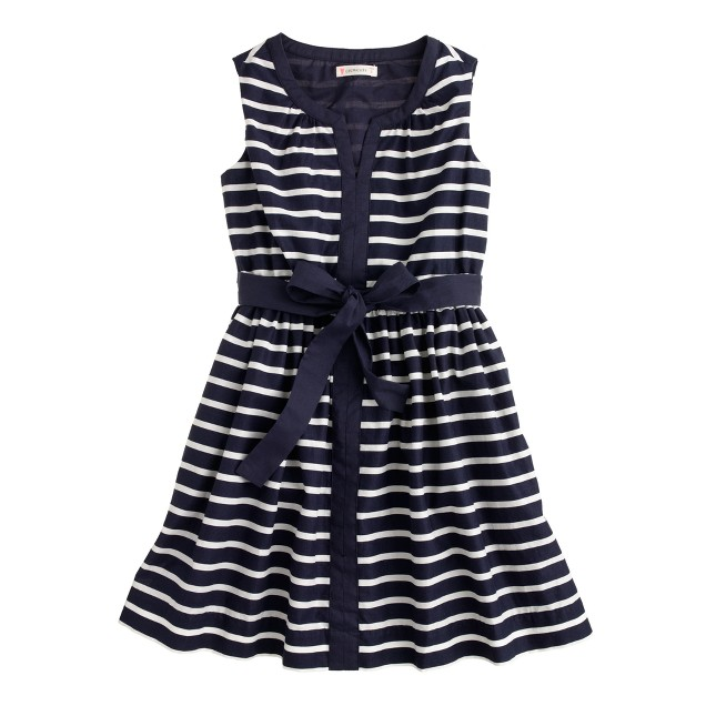 Girls' tipped tankdress in stripe