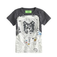 Boys' glow-in-the-dark space dog tee