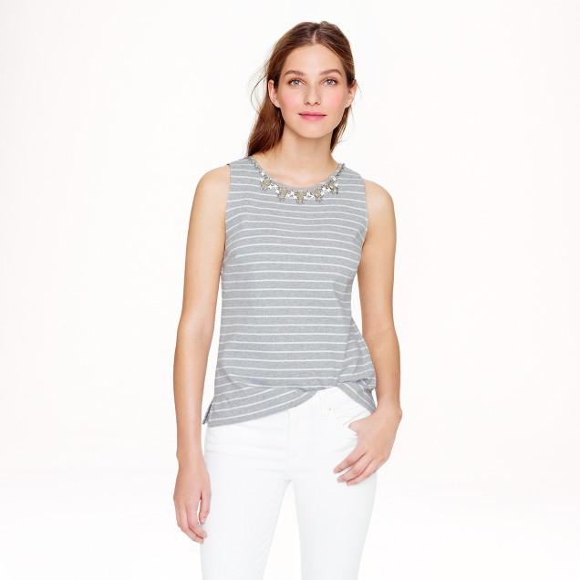 Stripe necklace shell