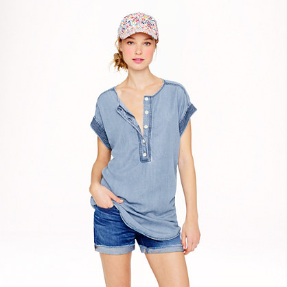 Silky chambray tunic