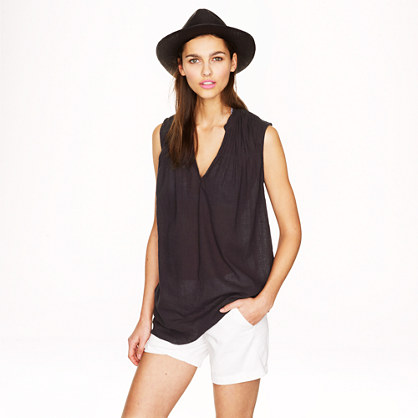 Sleeveless beach tunic