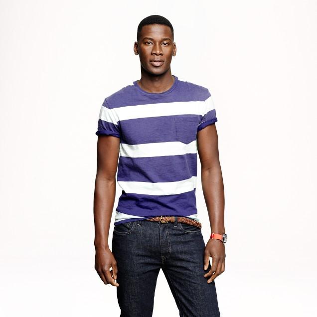 Rugby stripe pocket T-shirt