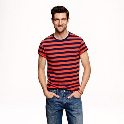 Blazing orange stripe T-shirt