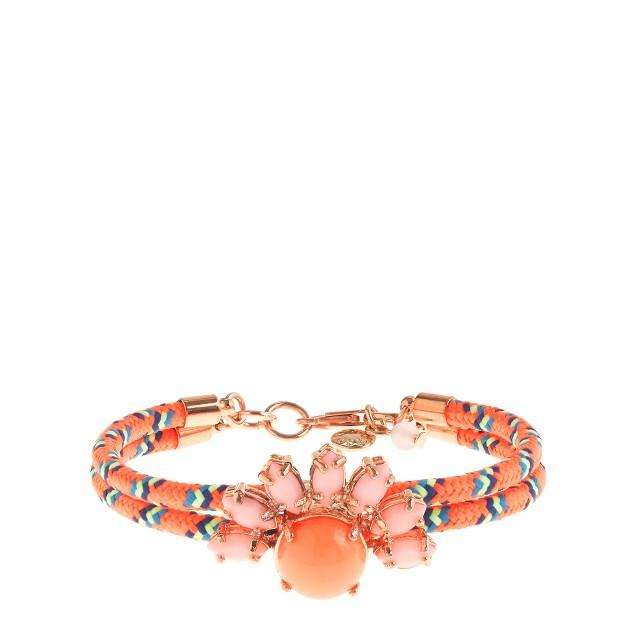 Girls' corded flower jewel bracelet