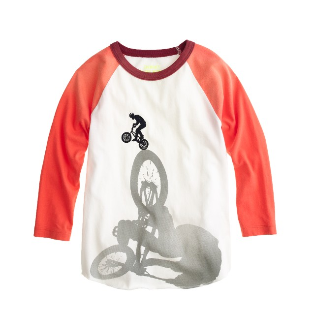 Boys' motorcycle baseball tee