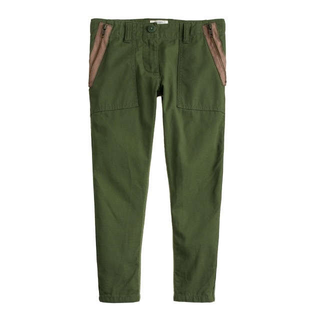 Girls' lightweight side-zip utility pant
