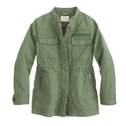 Girls' Lightweight military jacket : coats & jackets | J.Crew