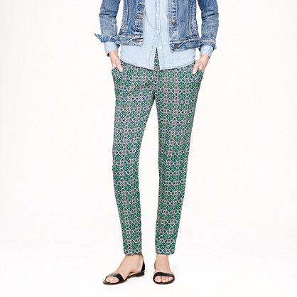 Beach pant in lattice medallion