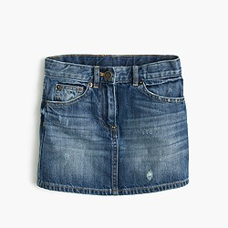 Girls' denim mini skirt