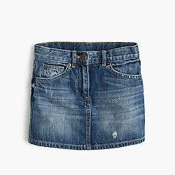 Girls' denim mini skirt