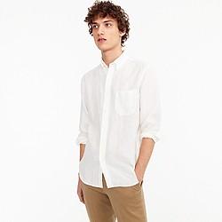 Tall Irish linen shirt in solid