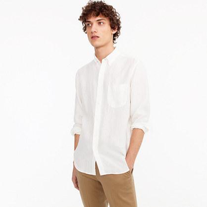 Irish linen shirt in solid