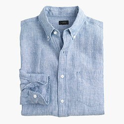 Tall délavé Irish linen shirt