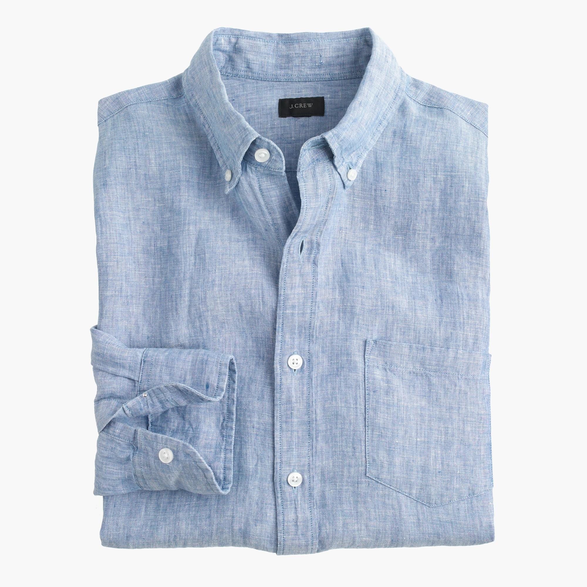Slim d lav irish linen shirt j crew for Irish linen dress shirts