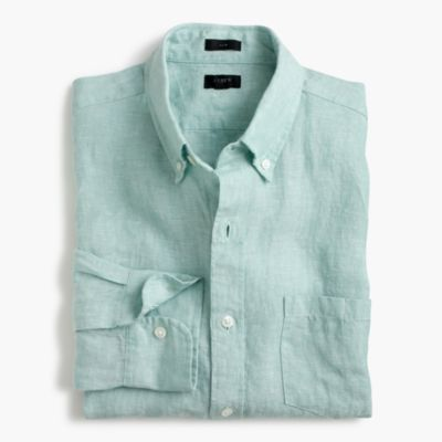 Slim délavé Irish linen shirt