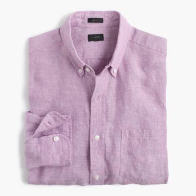 Slim délavé Irish linen shirt