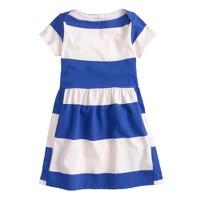 Girls' stripe boatneck dress
