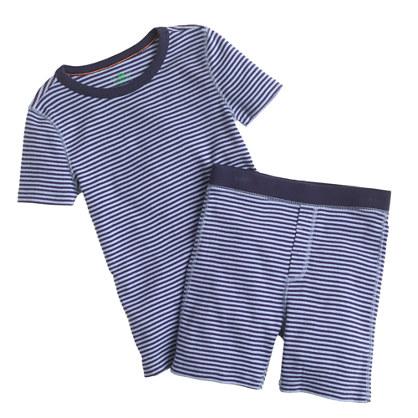 Boys' short-sleeve pajama set in skinny-stripe