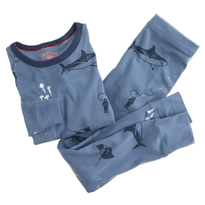 Boys' glow-in-the-dark pajama set in seascape