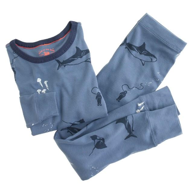 Boys' glow-in-the-dark pajama set in seascape