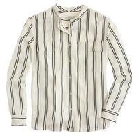 Collection satin-stripe blouse