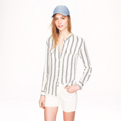 Collection satin-stripe blouse