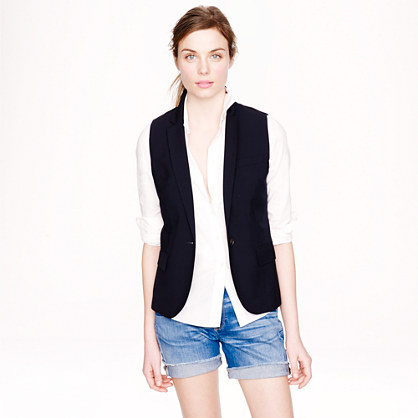 Stretch wool vest