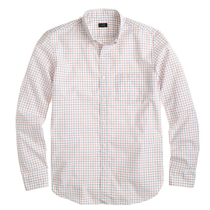Secret Wash shirt in provence blue plaid