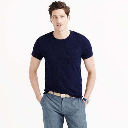 Wallace & Barnes indigo pocket T-shirt