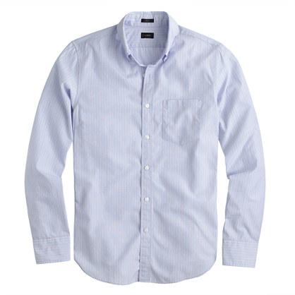 Slim Secret Wash shirt in stripe end-on-end cotton