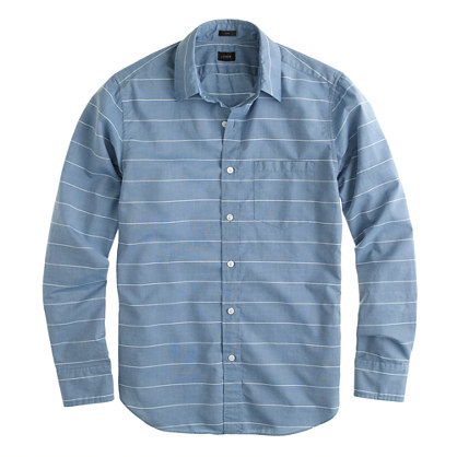 Slim Secret Wash shirt in horizontal stripe