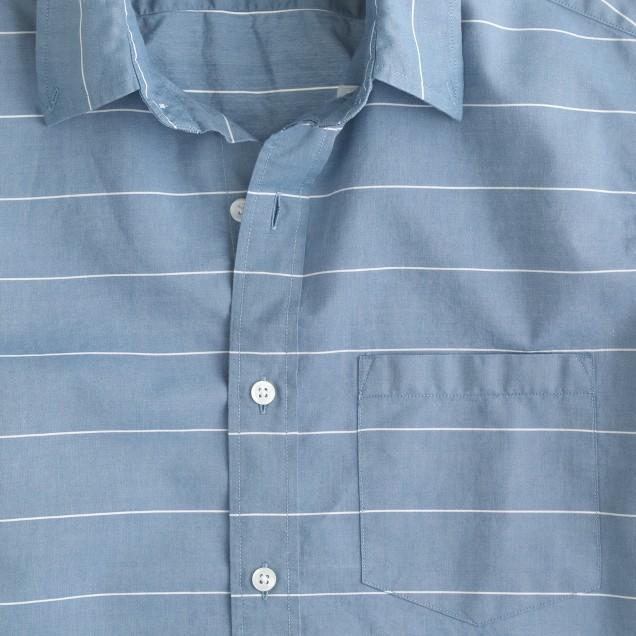 Slim Secret Wash shirt in horizontal stripe