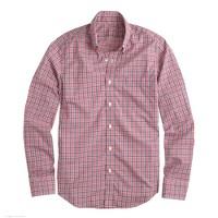 Slim lightweight shirt in ashford berry check