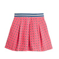 Girls' pleated skirt in floral dot