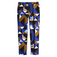 Collection cropped pant in Cubist print