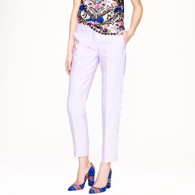 Collection wool-silk scalloped pant