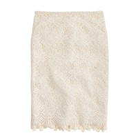 Collection guipure lace pencil skirt