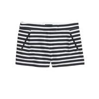 Textured stripe short in navy