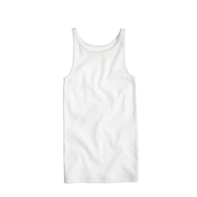 Girls' solid tank