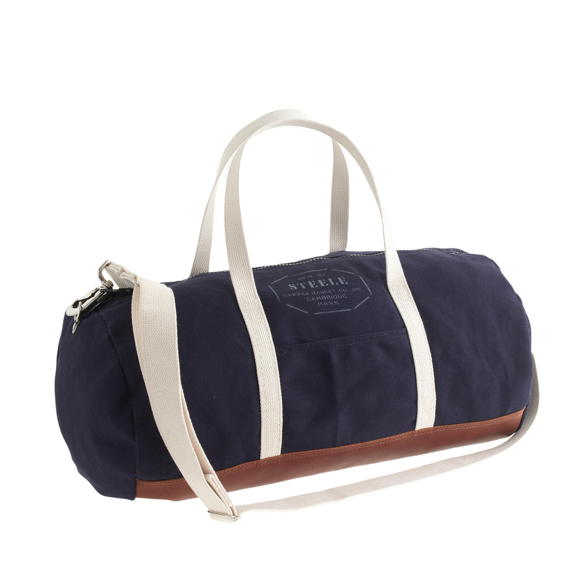 canvas basket corp for j crew leather trim