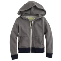 Boys' french terry colorblock zip hoodie