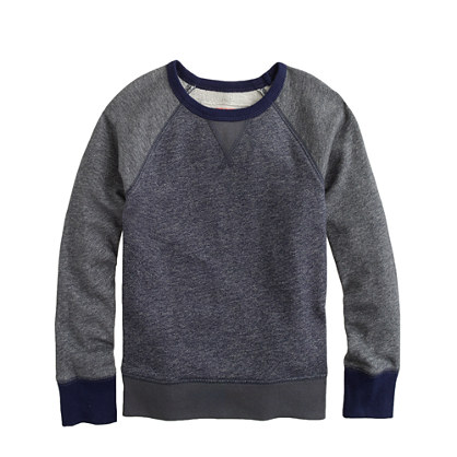 Boys' colorblock raglan sweatshirt