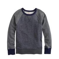 Boys' colorblock raglan sweatshirt