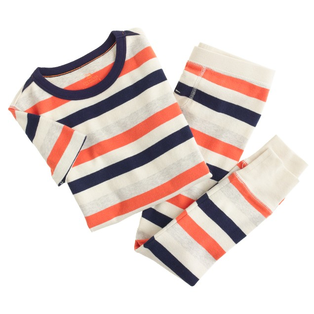 Boys' short-sleeve pajama set in multistripe