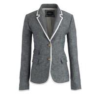 Schoolboy blazer in tipped linen