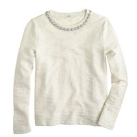 Marled jeweled sweatshirt
